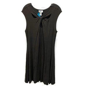 Carmen Marc Valvo Charcoal Jersey Skirt Dress